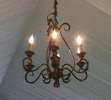 Image of 6 light bronze chandeliers