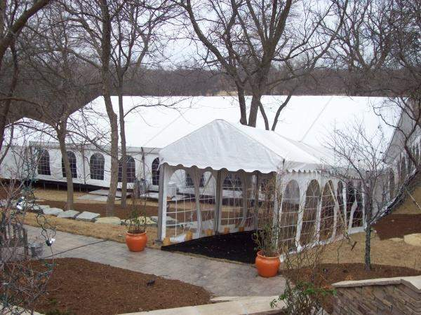 Backyard Party Tent With Cathedral Walls And Entry Way