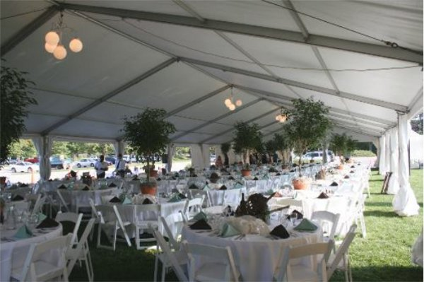 Reception Image Of Interior 40 X 120 Tent Set At Antelope Park Rose Garden Lincoln