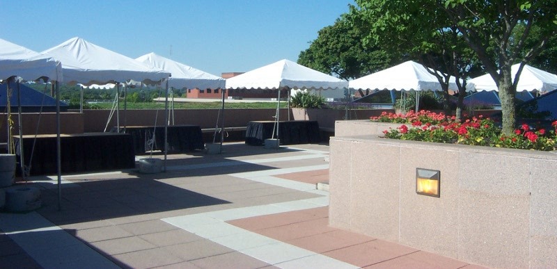 ... Image of weighted frame tents for Des Moines Iowa festival & Des Moines Tent Rentals