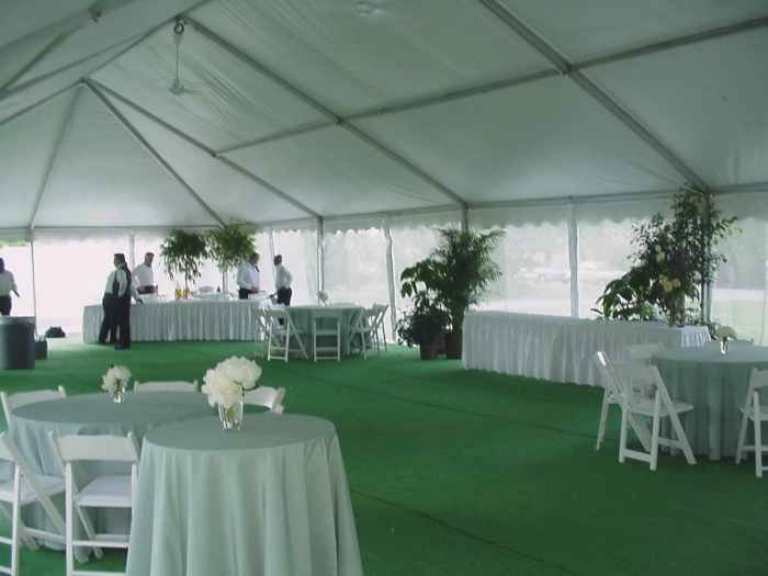 Merveilleux View Of Tent With Screen Walls For Omaha NE Backyard Wedding Reception