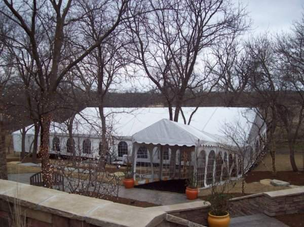 Image of clear span tent rented for a wedding tent in Denton Nebraska.