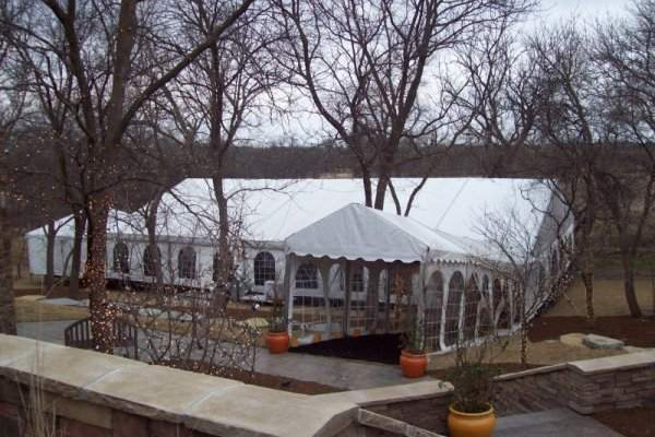 Image of clear span tent rented for a wedding tent in Denton Nebraska. & Lincoln Tent Wedding Tent Rental Information