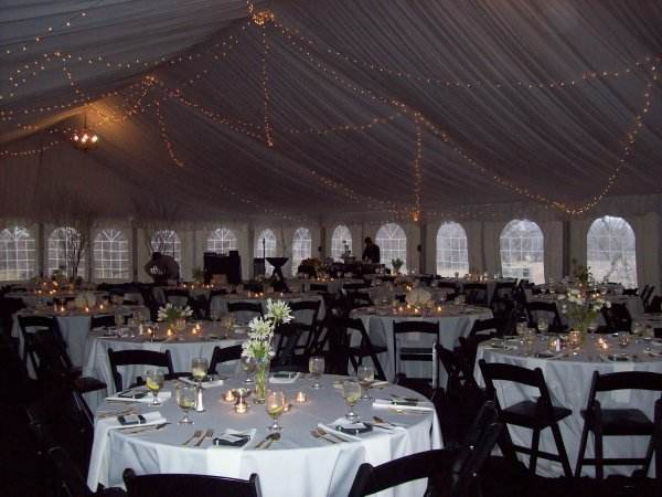 ... Nebraska Interior of a wedding tent set for a wedding reception. It shows the elegant decorations & Cathedral Elegance -A Nebraska Wedding Tent Rental