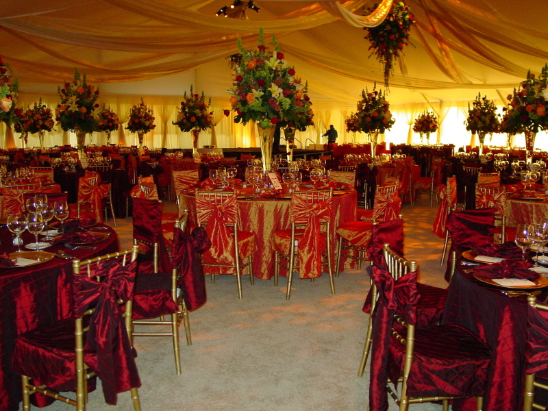 Image of a clear span tent rental Omaha NE wedding tent high dollar reception decorated with & Wedding Tent Rental - Omaha Country Club Reception