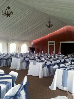 thumbnail images and links showing a variety of wedding tent rentals we have set in the past