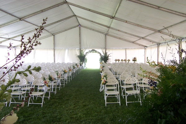 Ne Image Of An Elegant But Simply Decorated Tent Set Up For A Large Reception