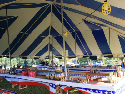 ... image of interior 60 X 60 blue and white tent used as a fireworks stand & 60 X 60 Blue u0026 White Big Festival Tent