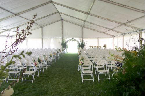 LTampA SUPER TENT DECORATED WITHOUT LINER FOR WEDDING