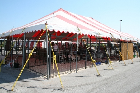 Image of tent for petting zoo at county fair & Rural Nebraska Tent Rentals