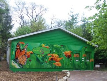 Image of custom made special order tent at the Lincoln Children Zoo