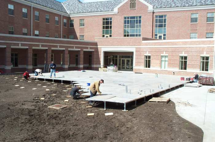Image of Decking being set at UNL