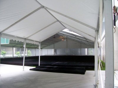 Image of entry way into the tent