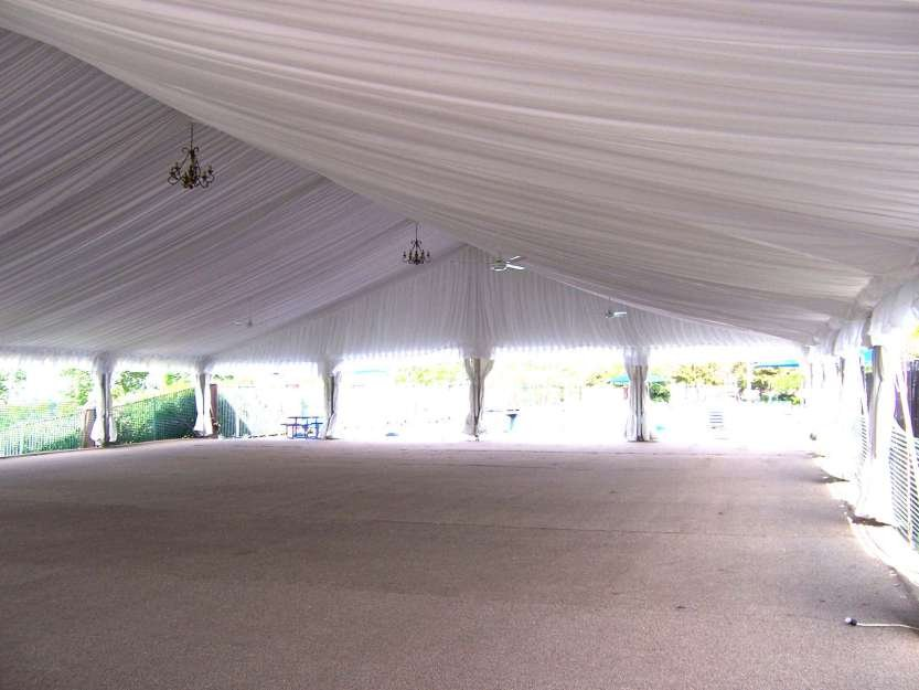 Clearspan Tent Lt Amp A Super Tent 174 Decorated With Pleated