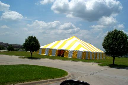 Big Yellow u0026 White Commercial Pole Tent set in a pretty green space & Big Tents - Yellow u0026 White Commercial Pole Tent - Kansas City MO