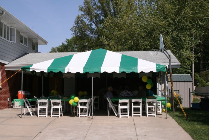 Graduation Open House Tent Rental 20 X 20 Frame Tent