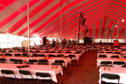 Large Rental Tent Interior View Omaha Nebraska