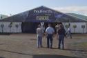 Thumbnail of a tent with logo - rental tent at Iowa Farm Progress Show