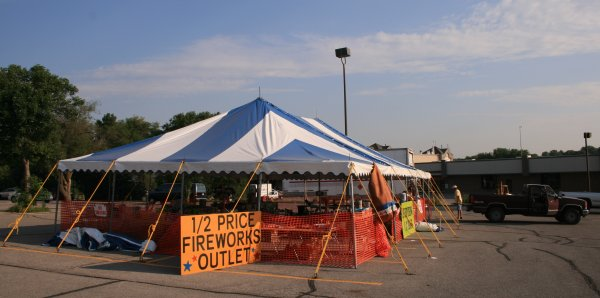 image of 30 X 50 blue and white festival tent & 30 X 50 Festival Tents- commercial tent rental
