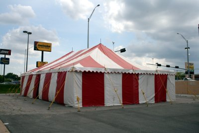 image of 30 X 50 red and white festival tent ... & 30 X 50 Festival Tents- commercial tent rental