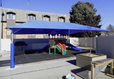 Image Of A Shade Cover Over Playground Area
