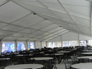 Image of shade structure used to host parties.