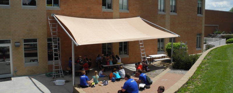 Great Image Of Custom Made Shade Structure For YMCA Patio Area Lincoln, NE.
