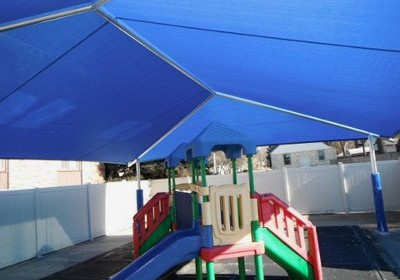 Shade Cover For Daycare Play Equipment Image Of A Strucutre Over Small Slide