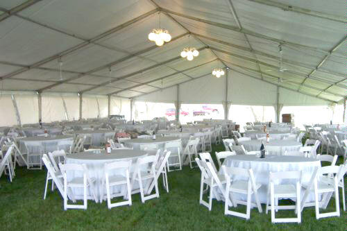 Lt Amp A Super Tent 174 Interior View Of Party In Lincoln Nebraska Clear Span Tent