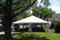 30 X 90 rural Nebraska tent rental with open walls.