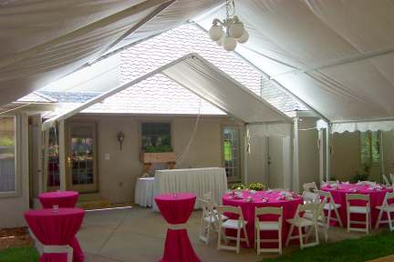 Frame Tent set against house- Omaha NE wedding tent rental : tent event omaha - memphite.com