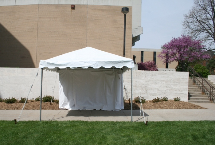 10 X 10 White frame tent at the Lied Center & Vendor Tent Rental - 10 X 10 Frame Tent set at Lied Center in ...