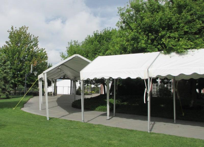 IMAGE of inside of a walkway to wedding reception & Walkway Canopy - 10 X Walkway for wedding reception