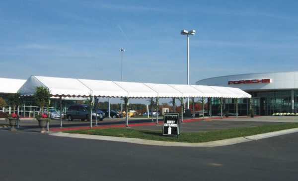 IMAGE of white walkway tent